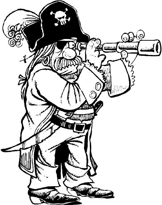 Pirate with spyglass